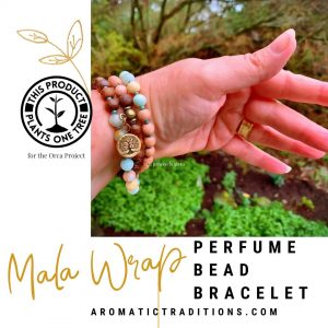 Aromatic Traditions Mala Wrap Perfume Bead Bracelet