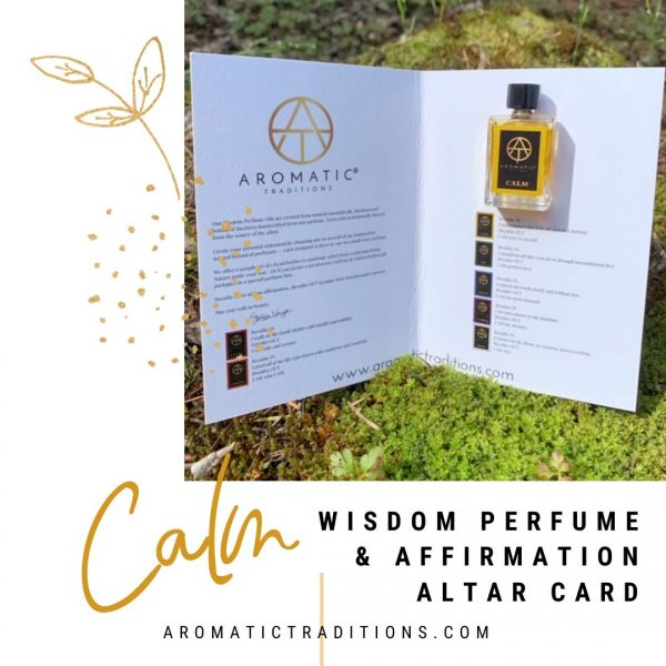 Aromatic Traditions CALM Affirmation & Altar Card
